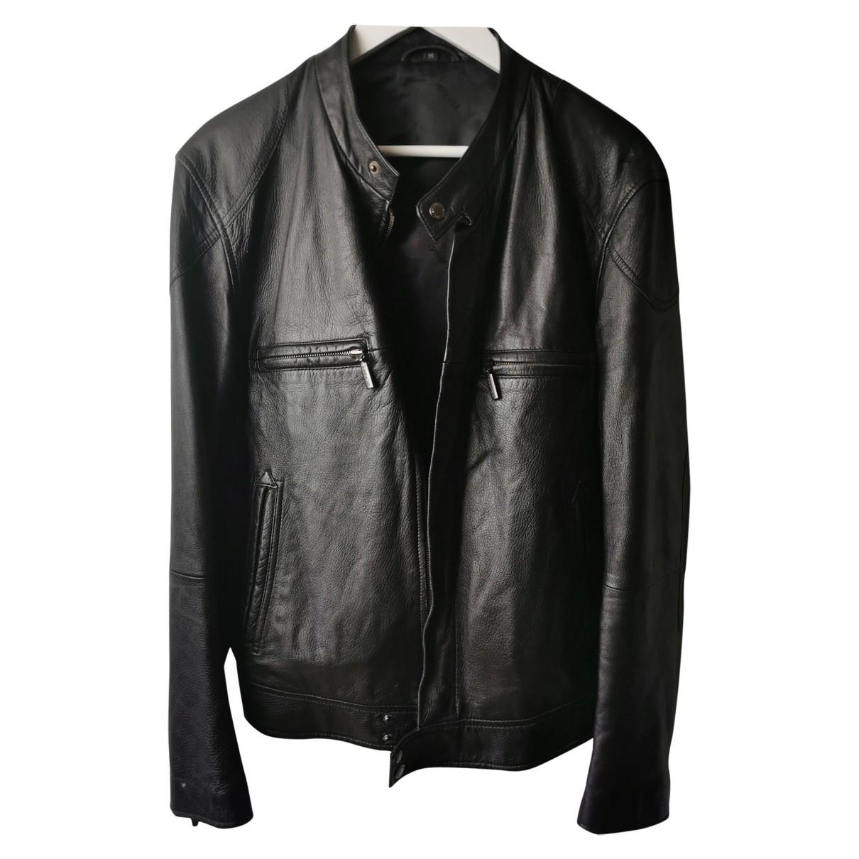 Louis Feraud \N Black Leather jacket  for Men M International