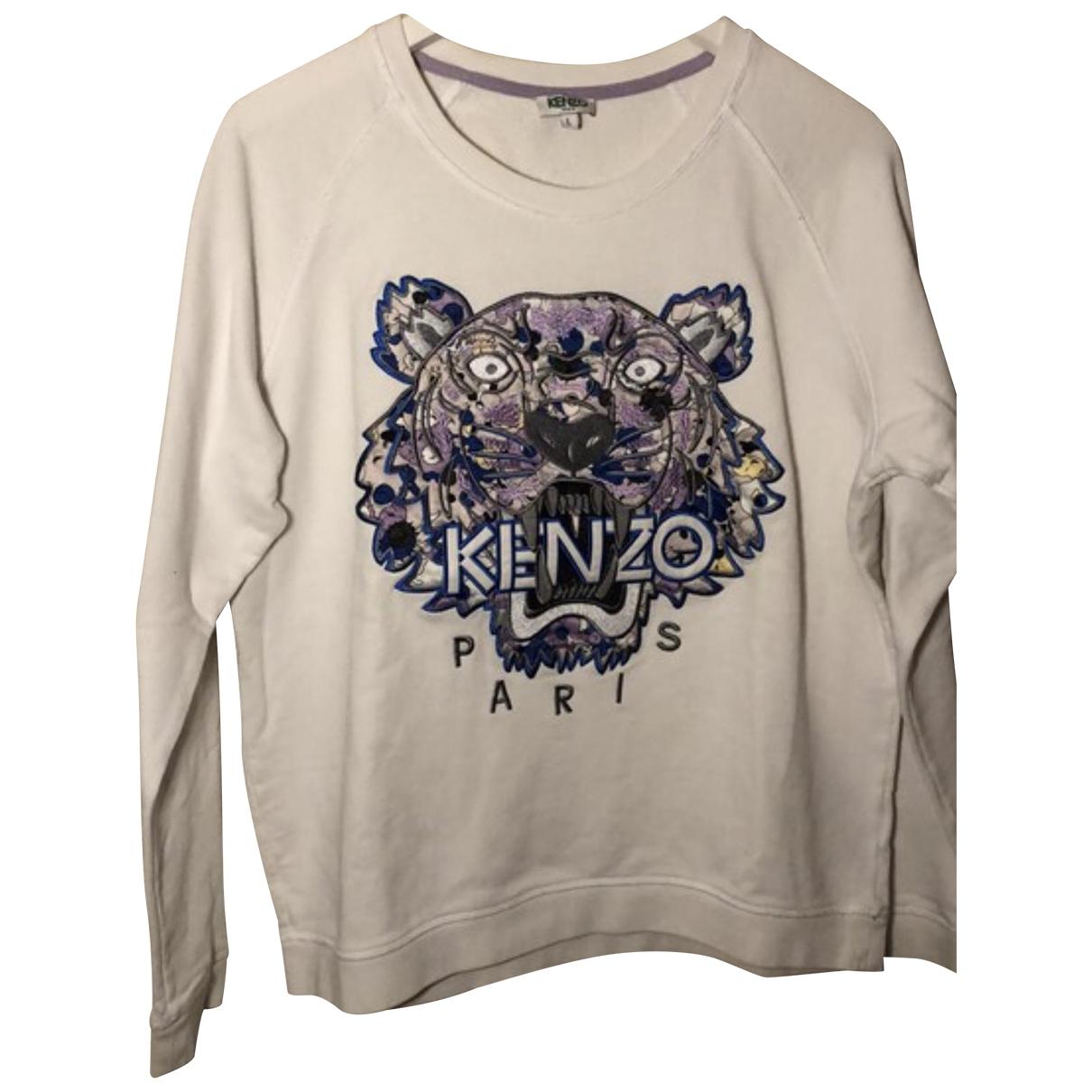 Kenzo - Pull   pour femme en coton - blanc