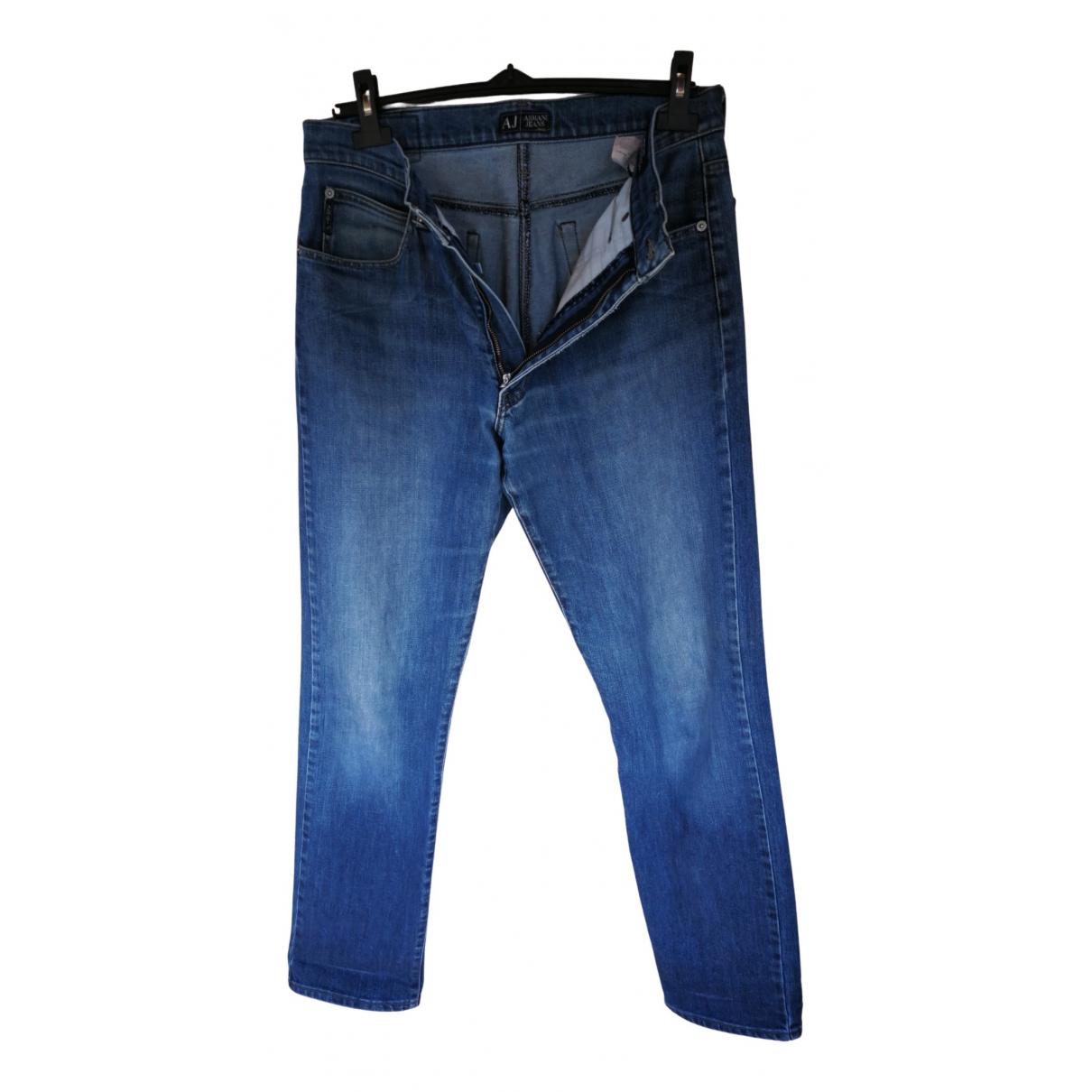 Armani Jeans \N Blue Cotton Jeans for Men 34 US