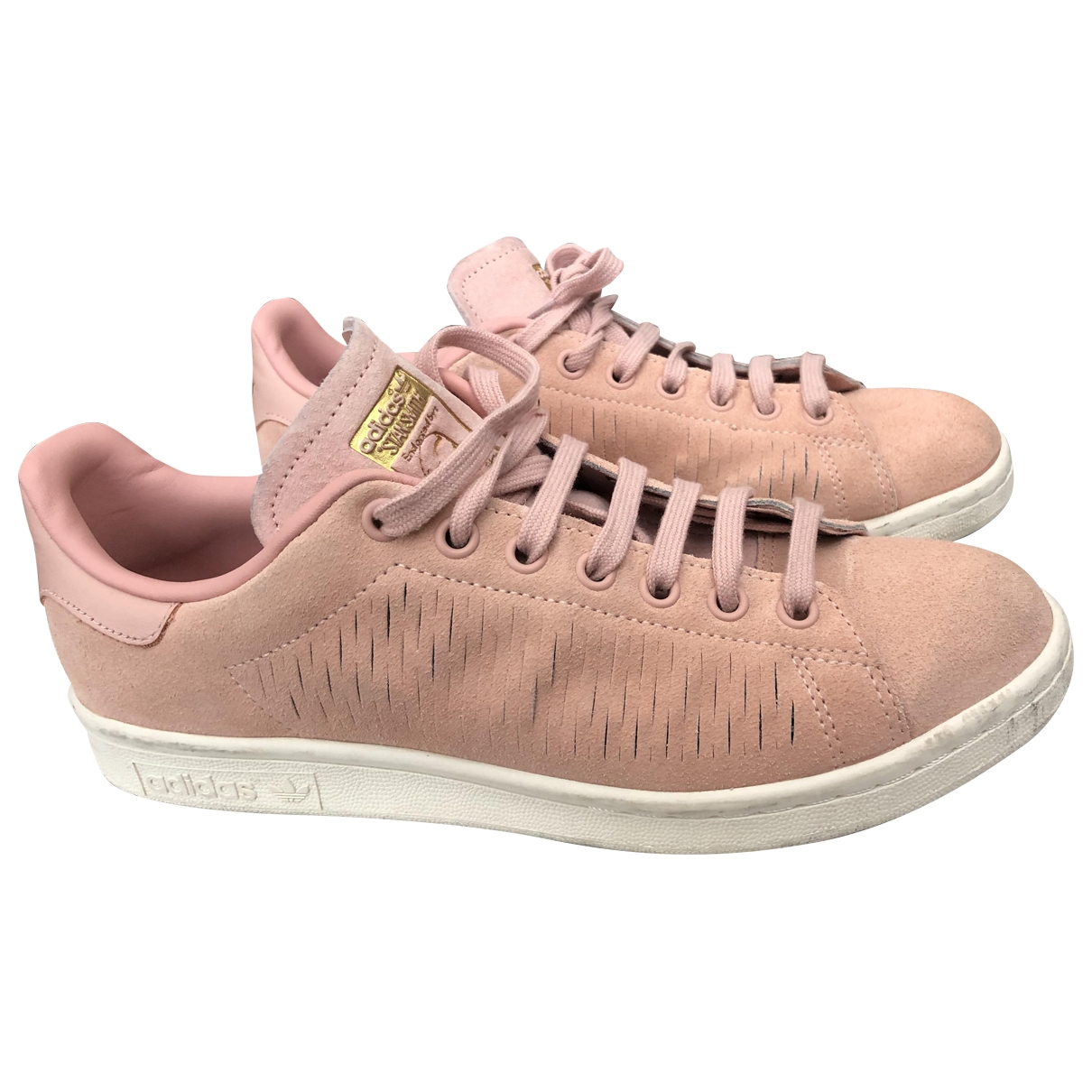 Adidas - Baskets Stan Smith pour femme en suede - rose