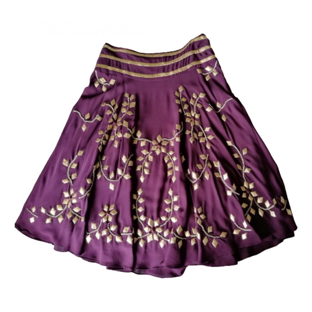 Temperley London - Jupe   pour femme en soie - violet
