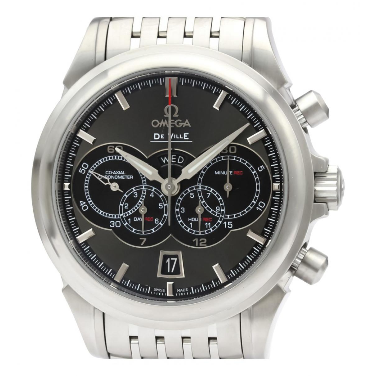 Omega De Ville  Uhr in  Grau Stahl
