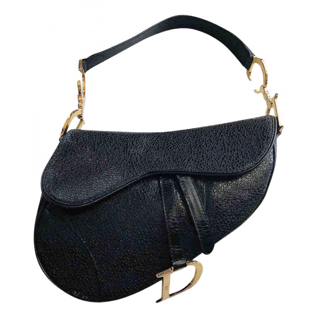 Dior - Sac a main Saddle pour femme en cuir - noir