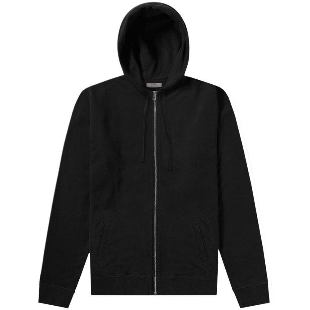 Versace Collection Reverse Logo Hoodie Colour: BLACK, Size: MEDIUM