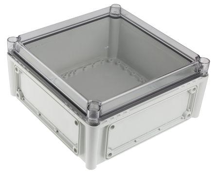 Fibox EK, Grey, Transparent Polycarbonate Enclosure, IP66, IP67, Flanged, 280 x 280 x 130mm