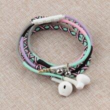 1 Stueck in-ear Kopfhorer mit handgemachtem Seil