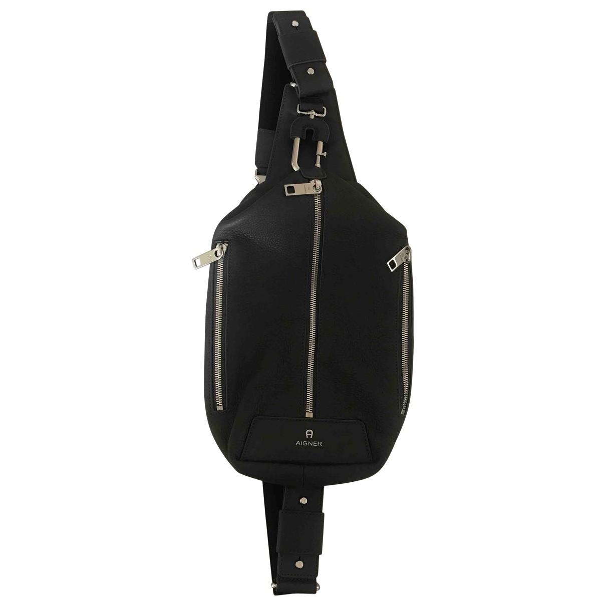 Aigner \N Anthracite Leather bag for Men \N