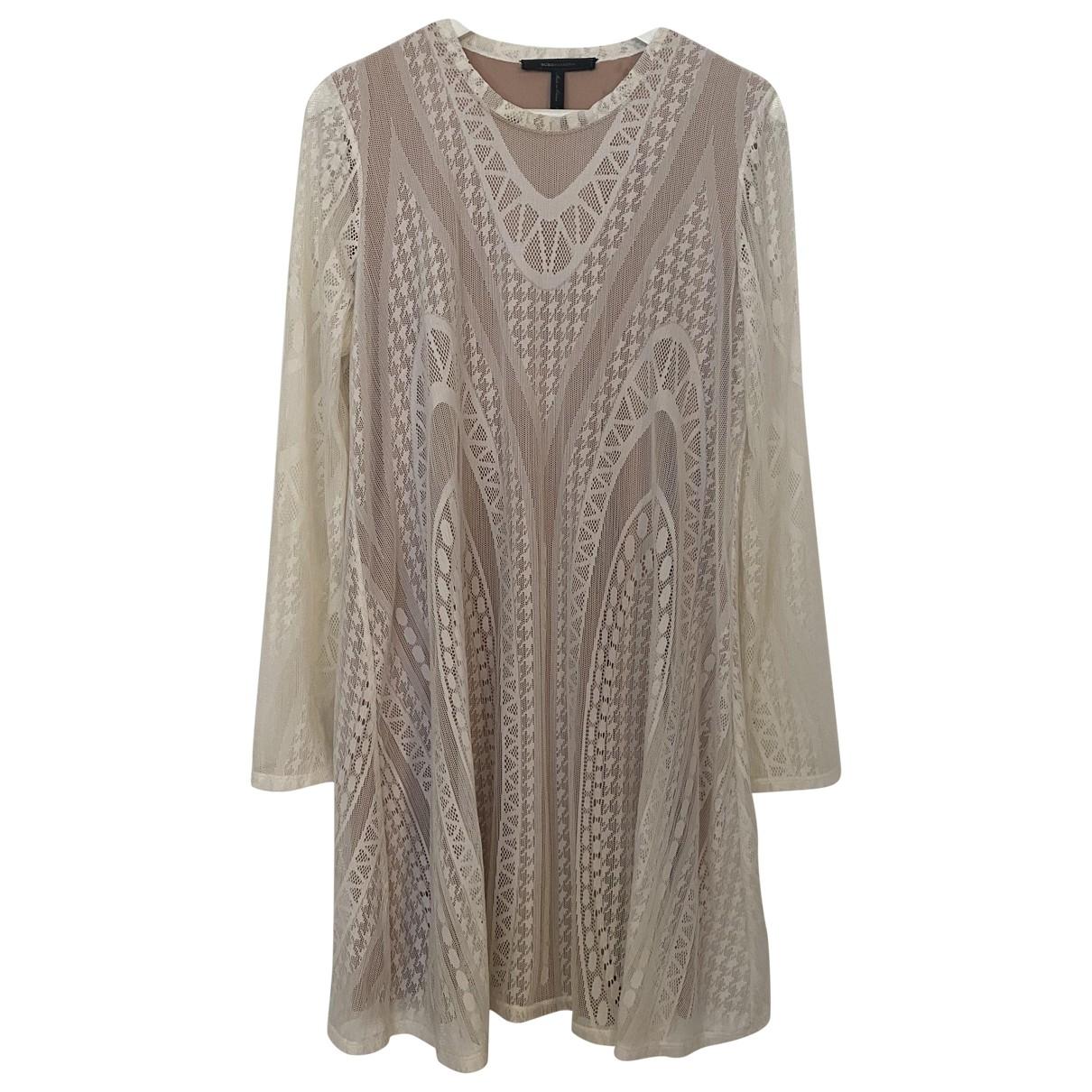 Bcbg Max Azria - Robe   pour femme en dentelle - blanc
