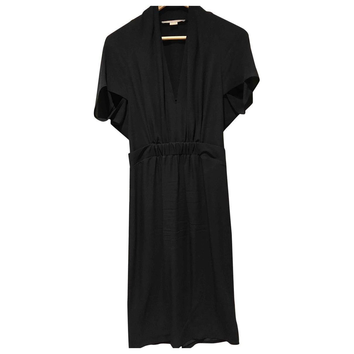 Stella Mccartney \N Navy Silk dress for Women 40 IT