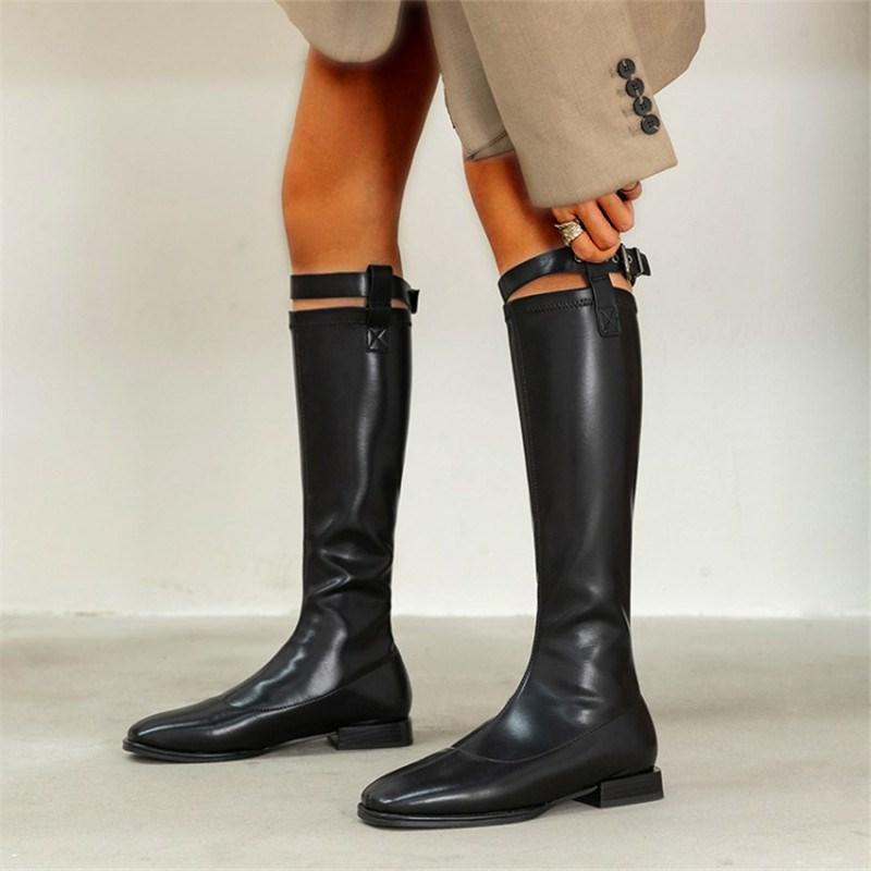 Ericdress Square Toe Plain Block Heel Professional Boots