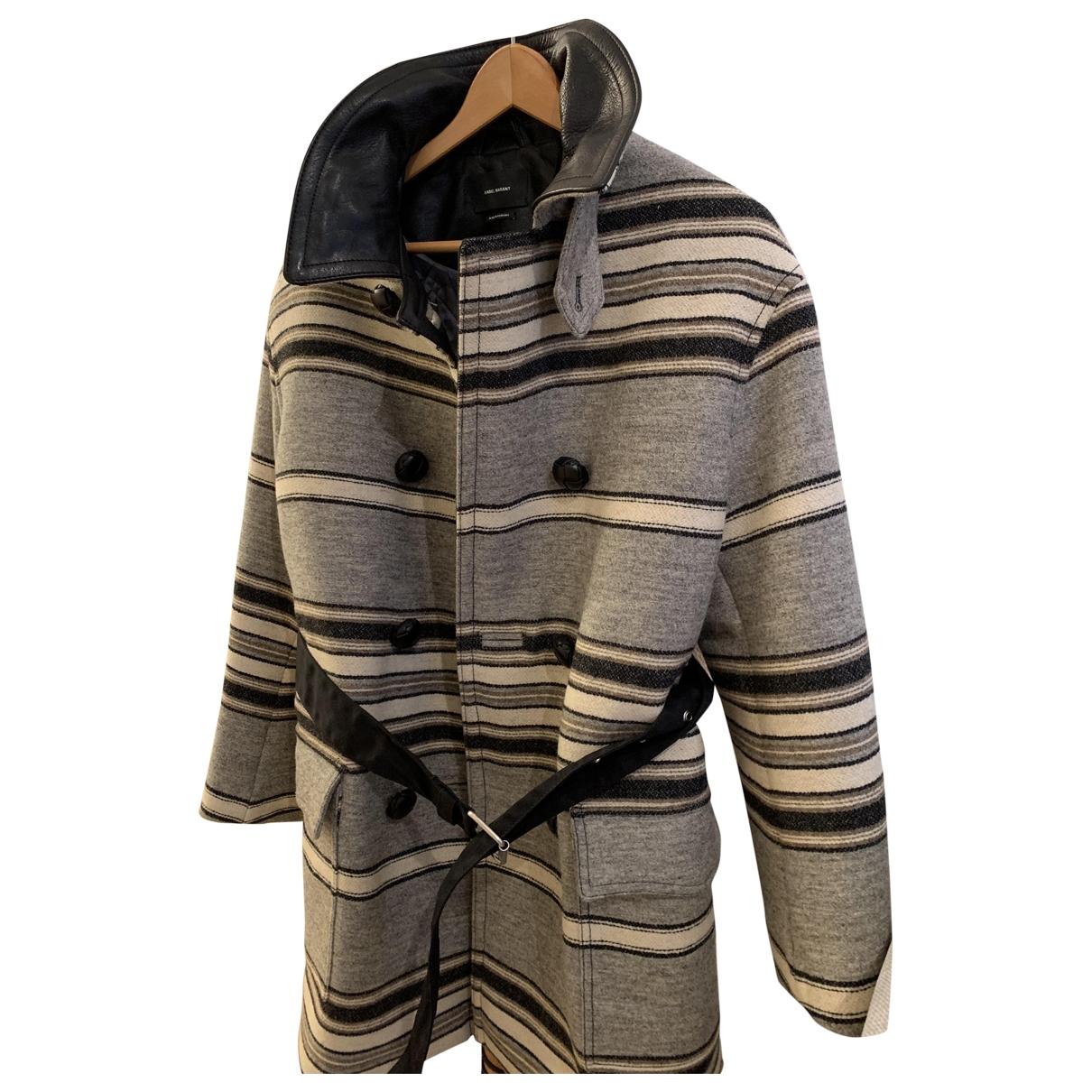 Isabel Marant - Manteau   pour femme en laine - beige