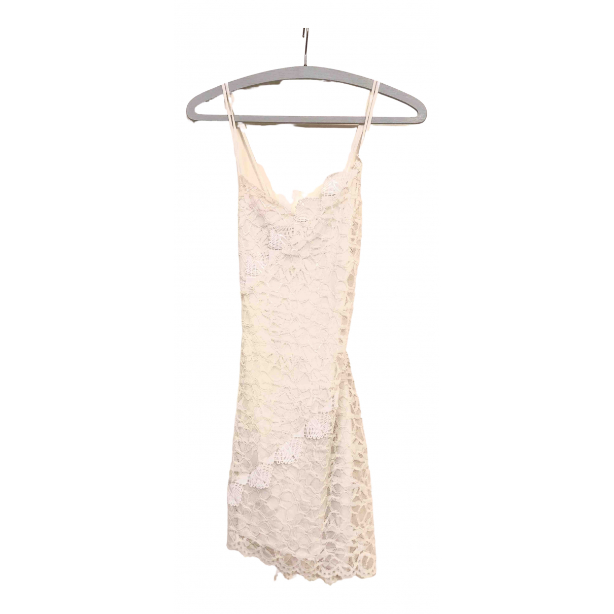 Non Signé / Unsigned Hippie Chic Ecru Lace dress for Women 34 FR