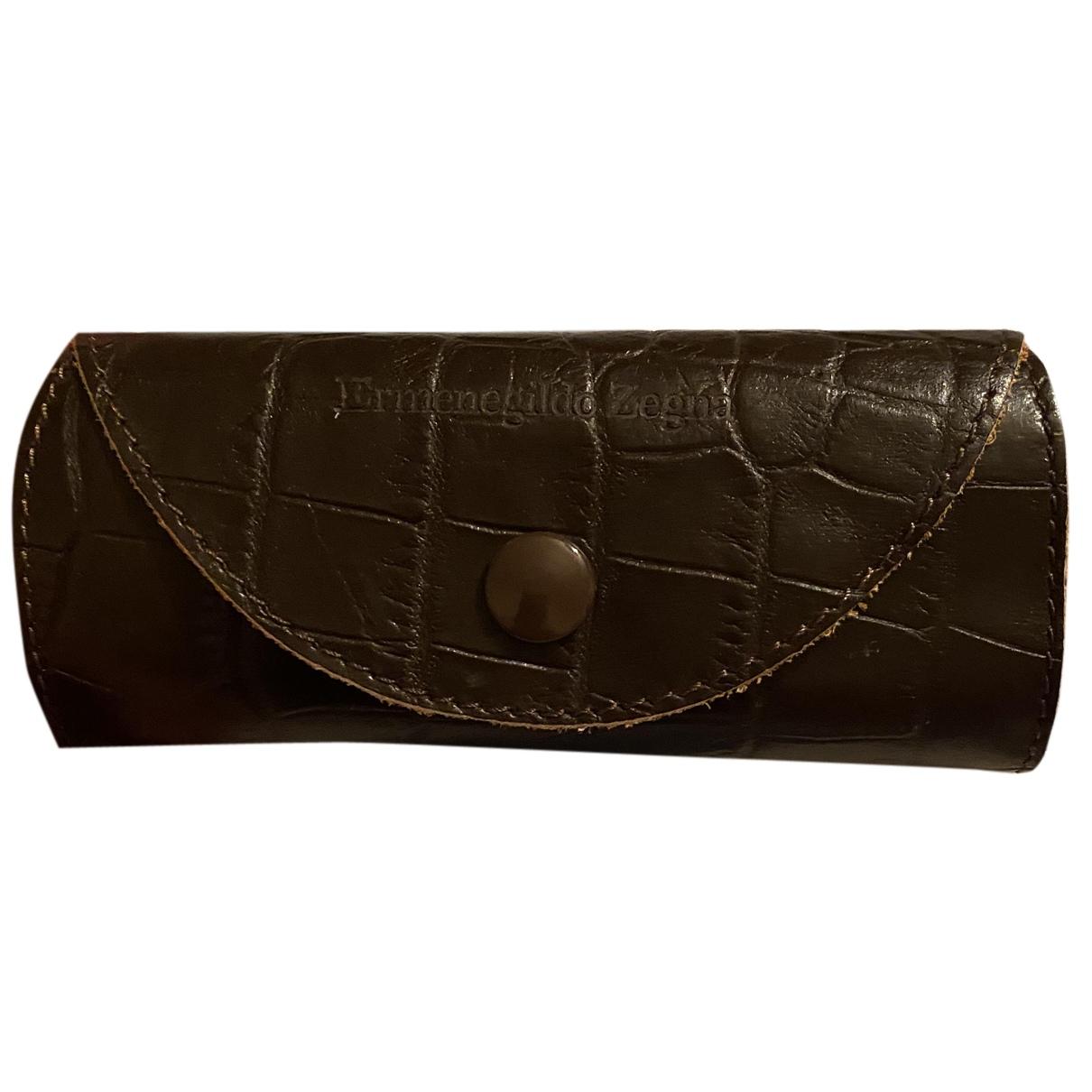 Ermenegildo Zegna N Brown Leather Small bag, wallet & cases for Men N