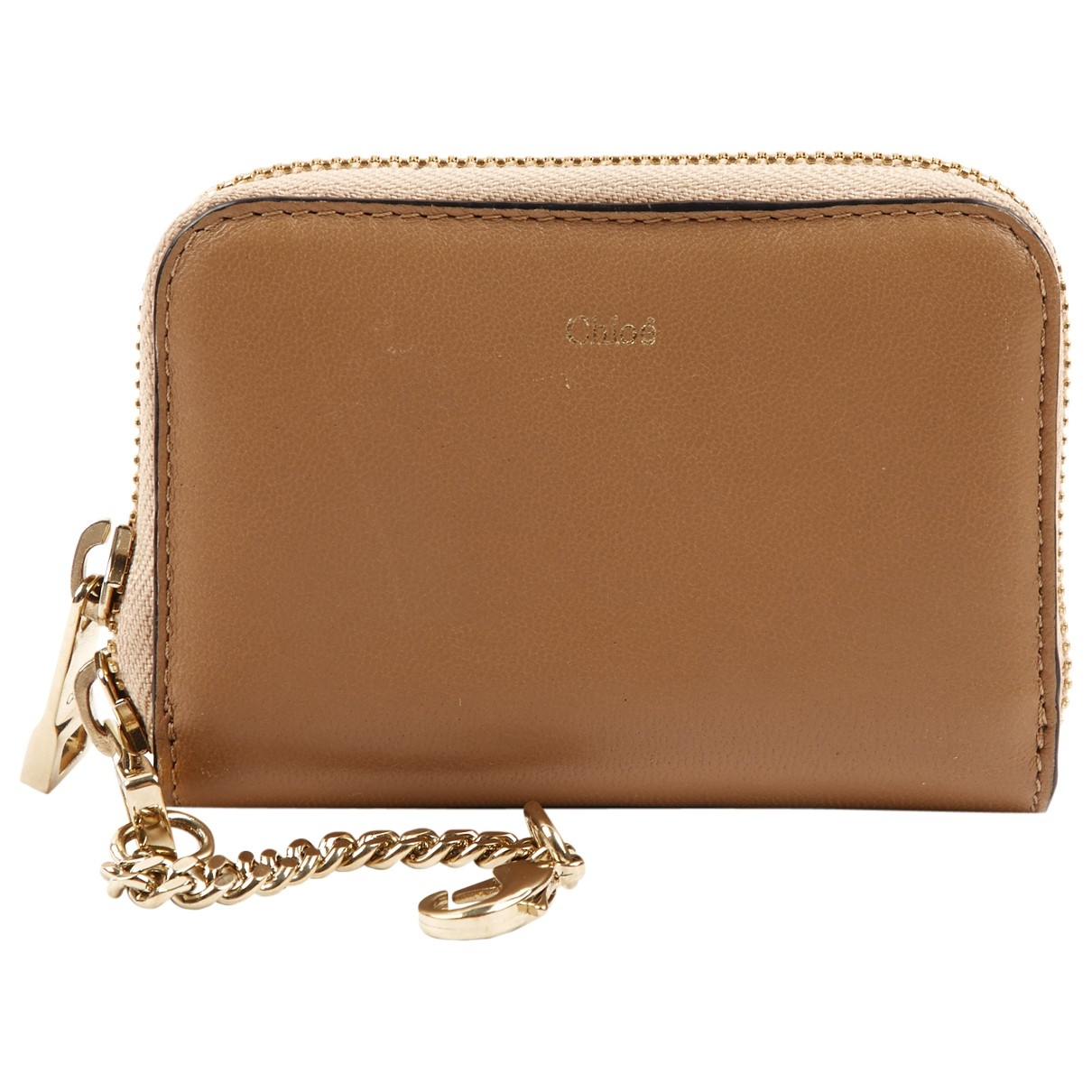 Chloé \N Gold Leather wallet for Women \N