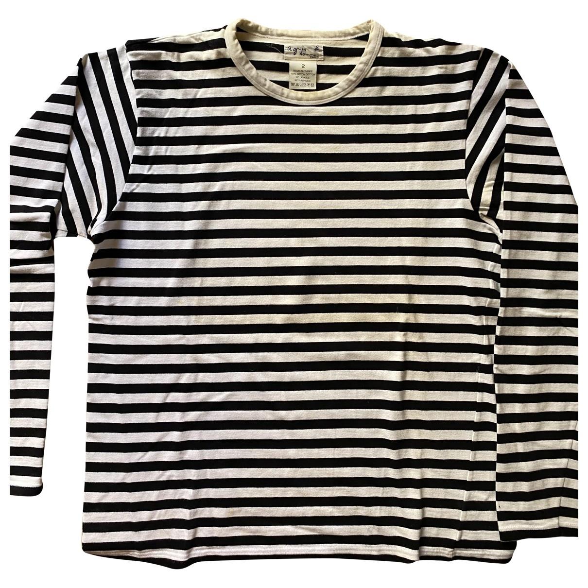 Agnes B. - Tee shirts   pour homme en coton - blanc