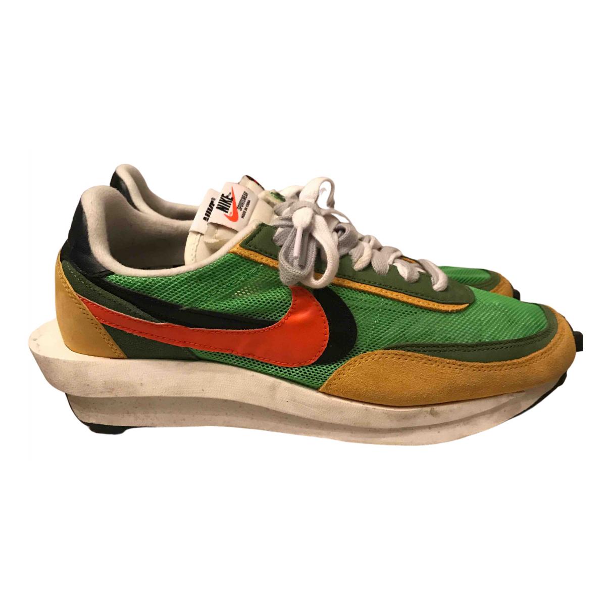 Nike - Baskets   pour homme en toile - vert