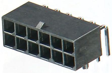 Molex , Mega-Fit, 172064, 12 Way, 2 Row, Right Angle PCB Header