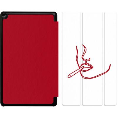 Amazon Fire HD 8 (2017) Tablet Smart Case - Cigarette Sketch von Lucy Bohr