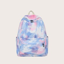 Tie Dye Zip Backpack