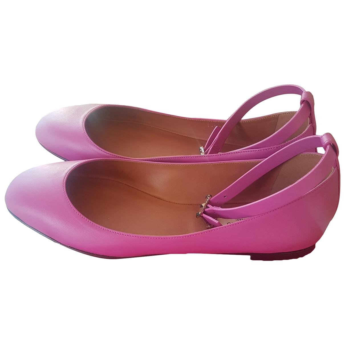 Valentino Garavani - Ballerines Tango pour femme en cuir - rose