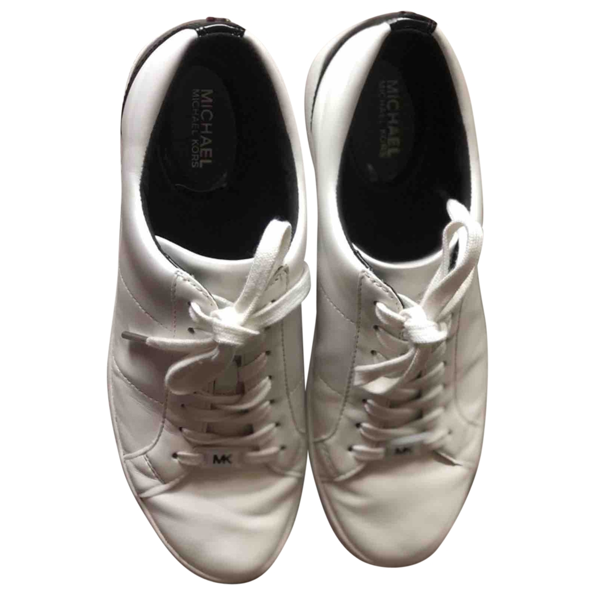 Michael Kors \N White Leather Trainers for Women 38.5 EU