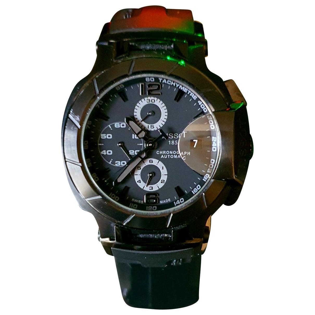 Tissot \N Black Steel watch for Men \N
