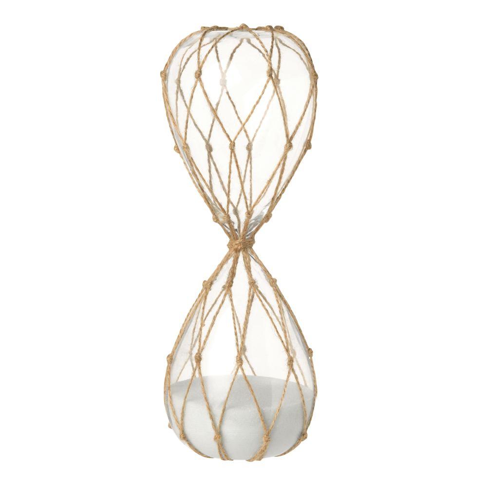 Sanduhr aus Glas mit Schnurdetail H29
