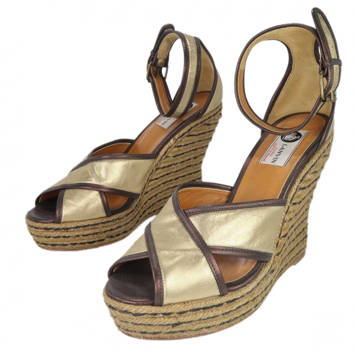Lanvin \N Sandalen in  Gold Leder