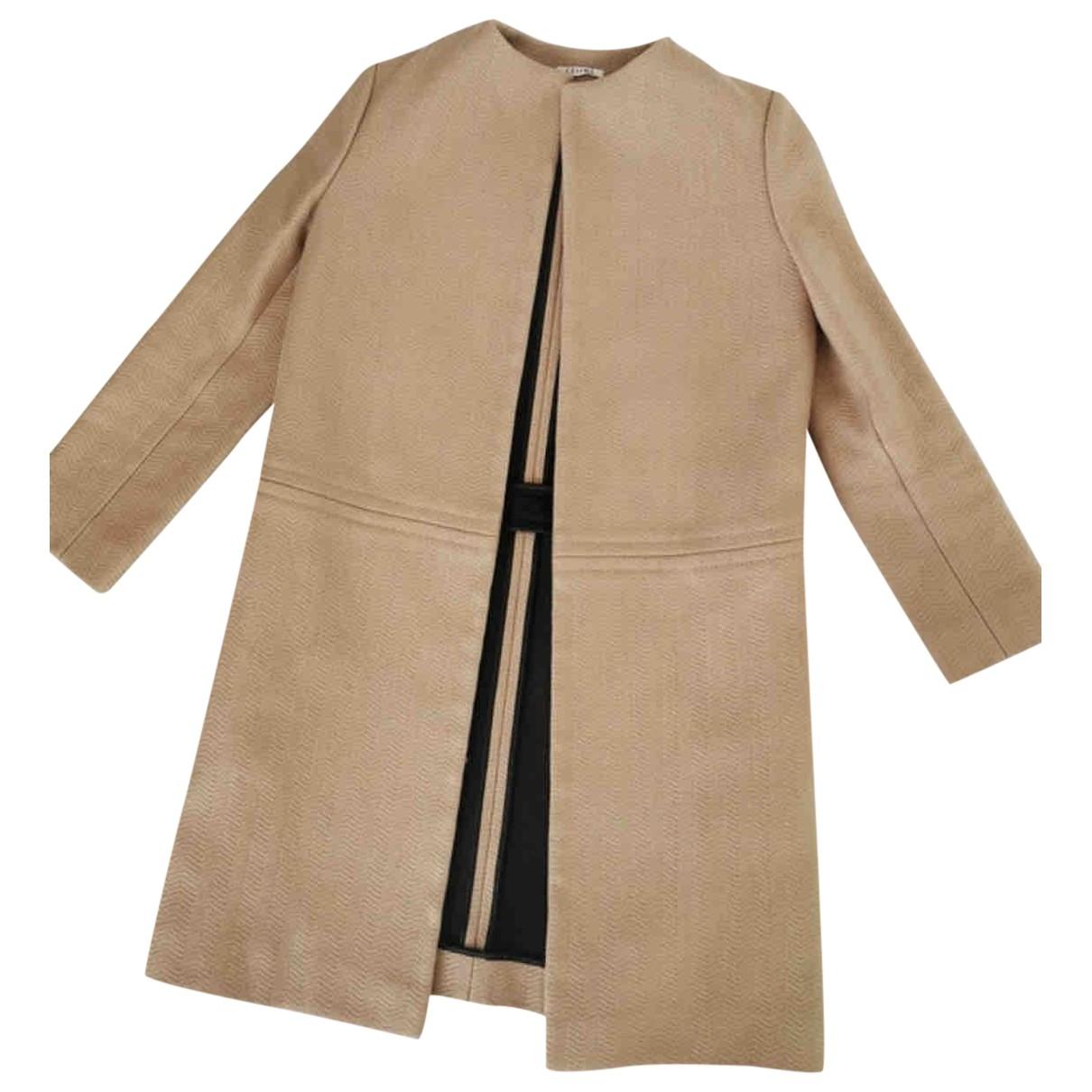 Celine \N Beige Wool coat for Women 38 FR