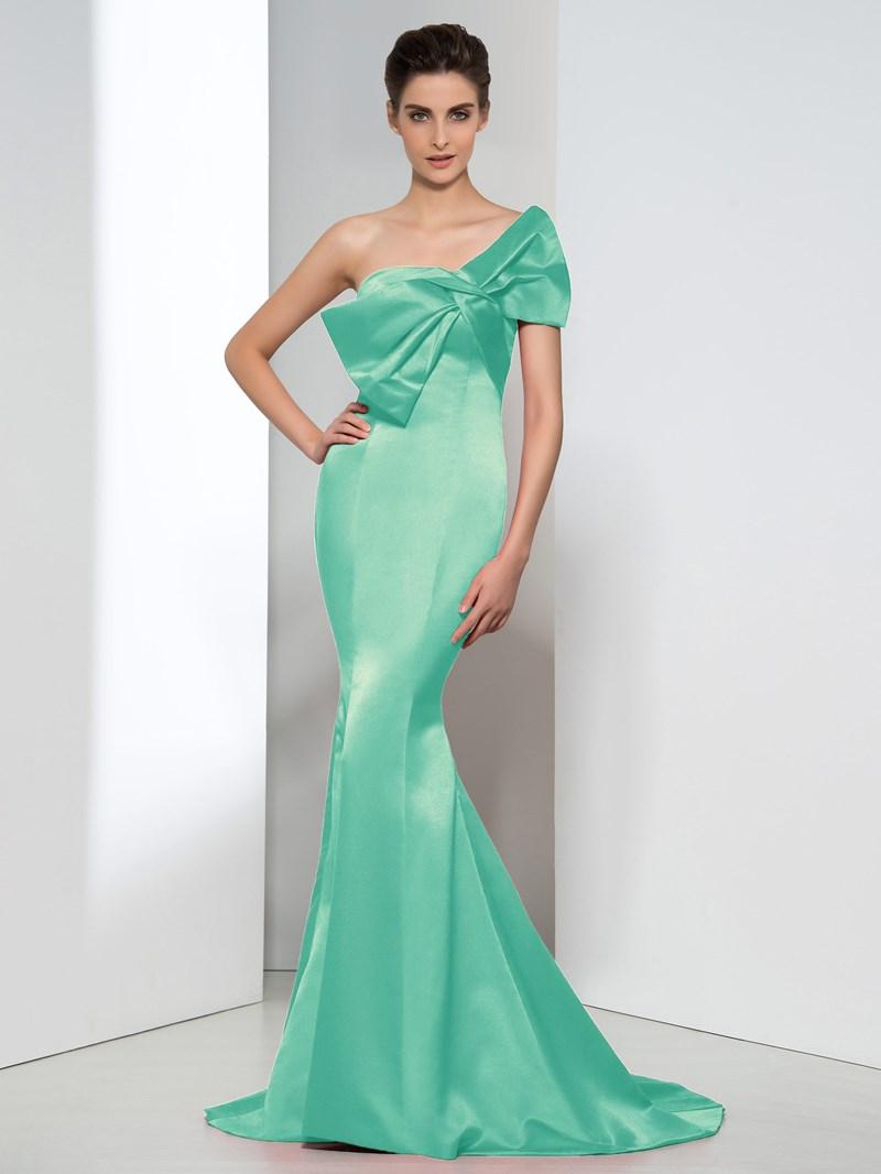 Ericdress Mermaid Strapless Bowknot Evening Dress