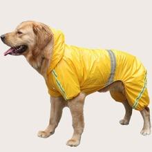1pc Dog Reflective Hooded Raincoat