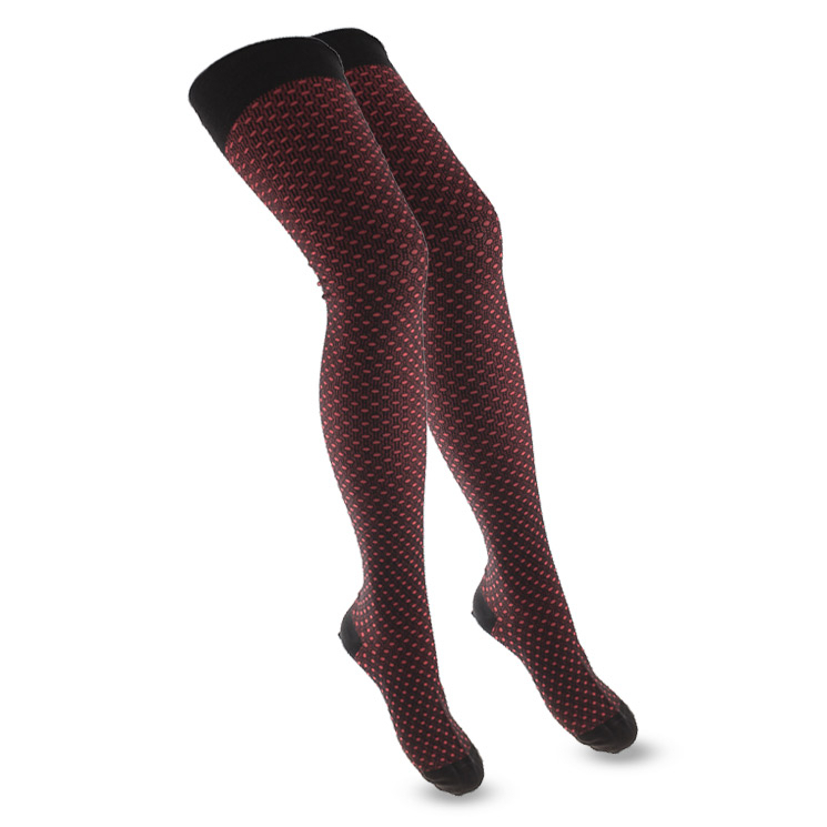 Crönert, 72812 Womens Tights Little Dots, dark red Größe 38-40