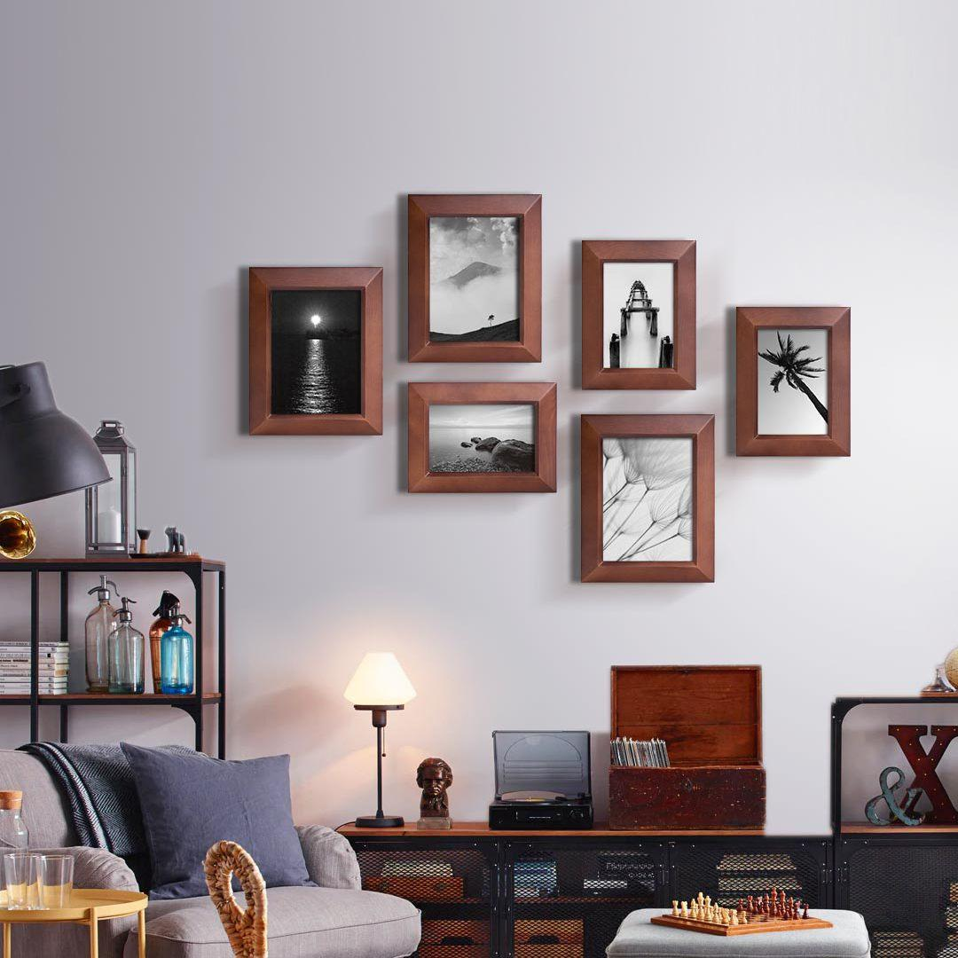 Geometry 1Piece Wall Photo Frame Family Wooden Picture Frame Desktop Picture Sets Square Picture Photo Holder From Xiaom
