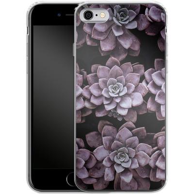 Apple iPhone 6 Silikon Handyhuelle - Purple Succulents von caseable Designs