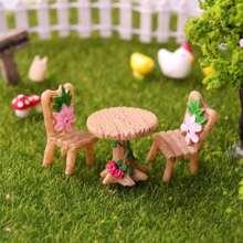 Pastoral Style Sofa & Chair Decorative Object 3pcs