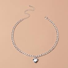 1pc Heart Pendant Chain Necklaces