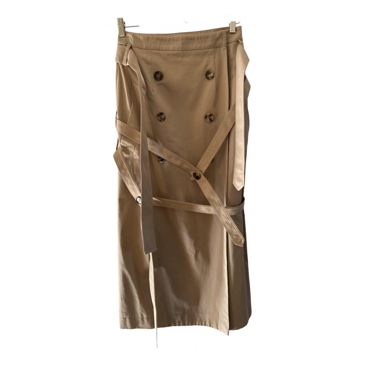 Rokh - Jupe   pour femme en coton - beige