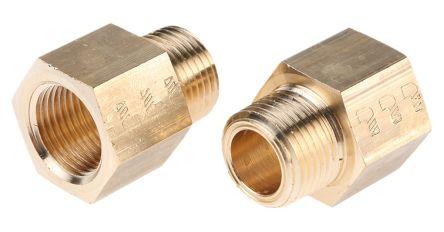 Legris LF3000 250 bar Brass Pneumatic Straight Threaded Adapter, NPT 3/8 Male To G 3/8 Female