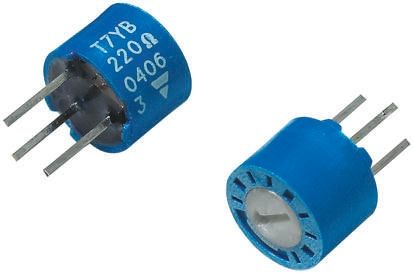 Vishay 100kΩ, Through Hole Trimmer Potentiometer 0.5W Top Adjust , T7 (5)