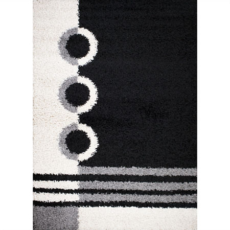 Concord Global Rectangular Indoor Rugs, One Size , Black