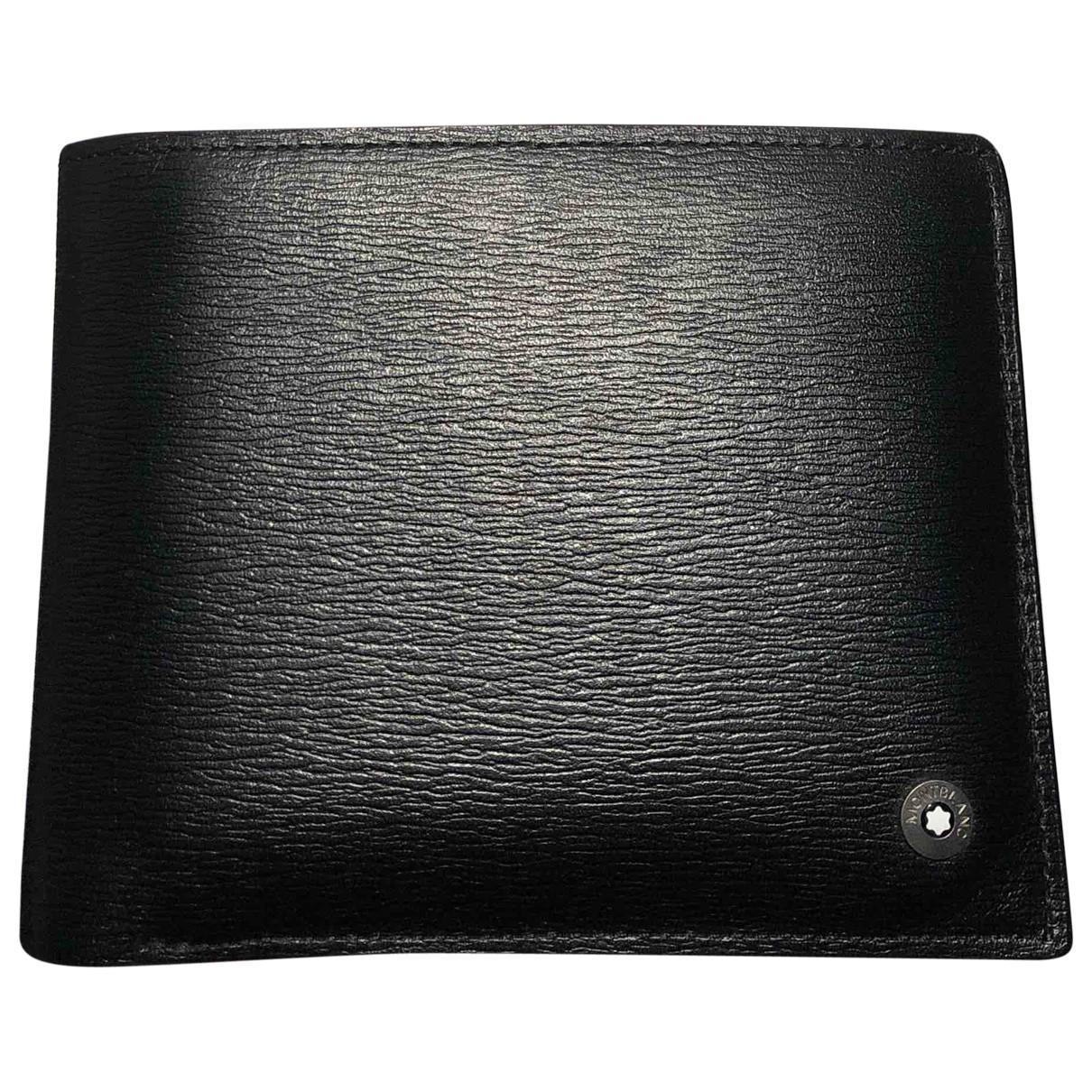 Montblanc - Petite maroquinerie   pour homme en cuir verni - noir