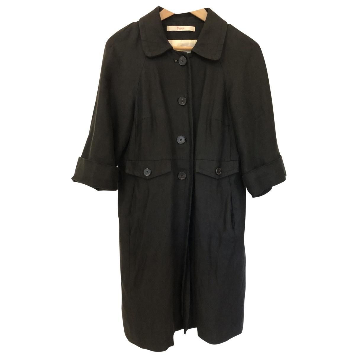 Jucca - Veste   pour femme en lin - noir