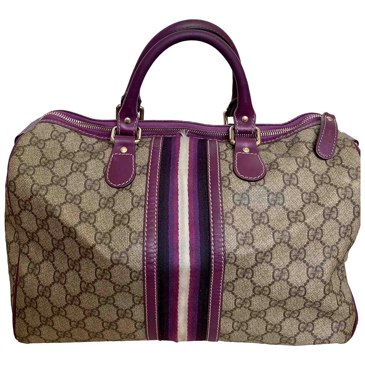 Gucci - Sac a main Boston pour femme en cuir verni - violet