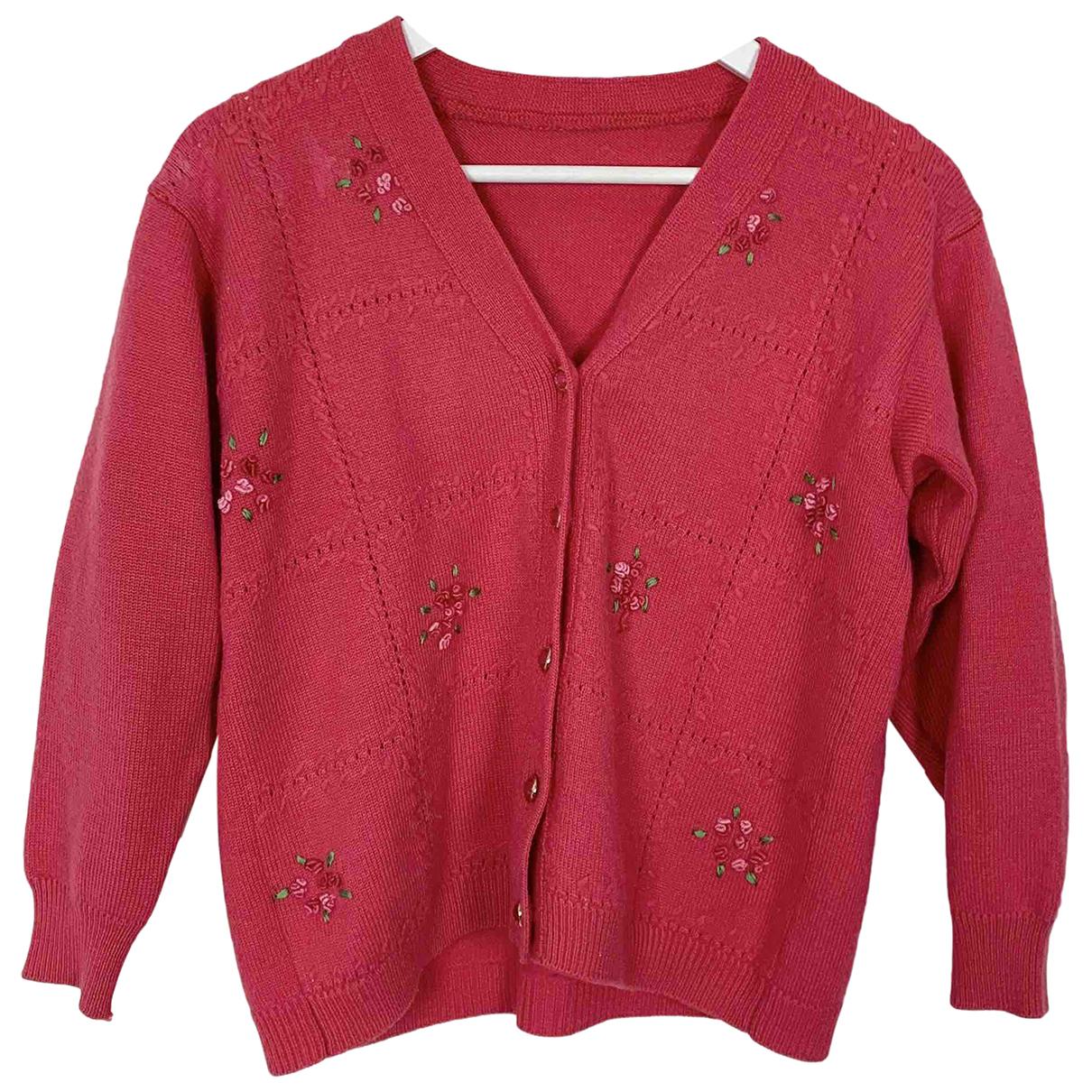 - Pull Manche ballon pour femme en laine - rose