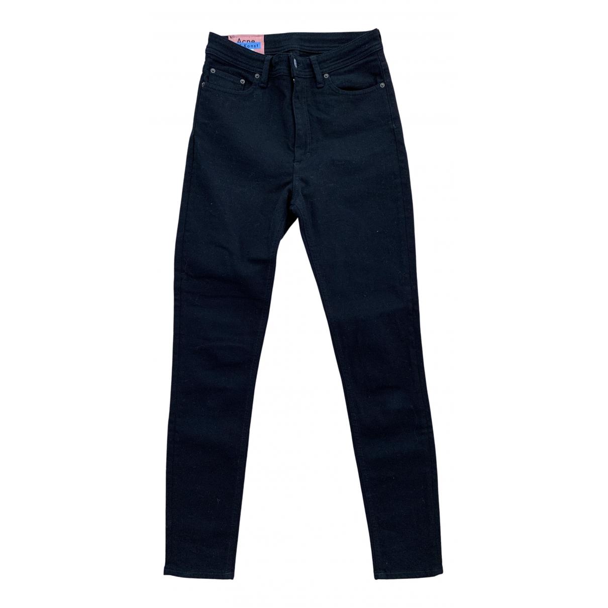 Acne Studios Blå Konst Black Cotton - elasthane Jeans for Women 28 US