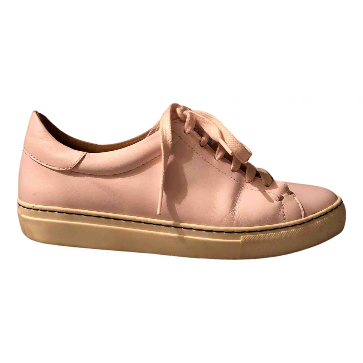 By Malene Birger \N Sneakers in  Rosa Leder