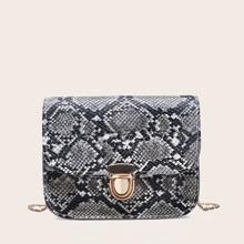Snakeskin Chain Bag