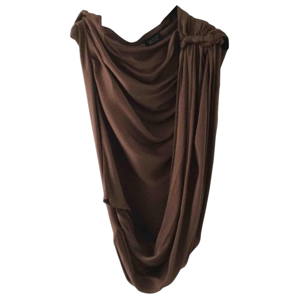 Lanvin - Top   pour femme en soie - marron