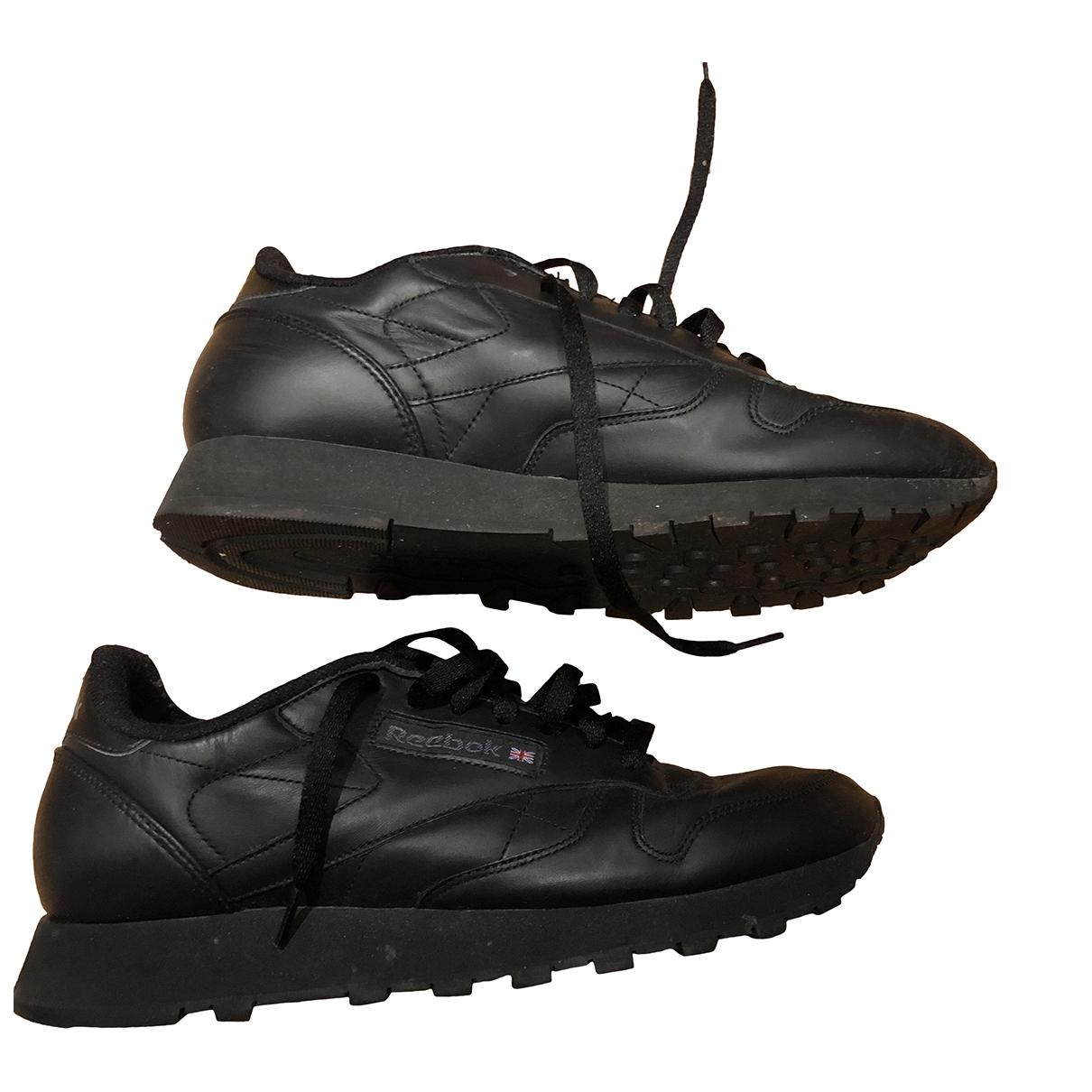 Reebok - Baskets   pour homme en cuir - noir