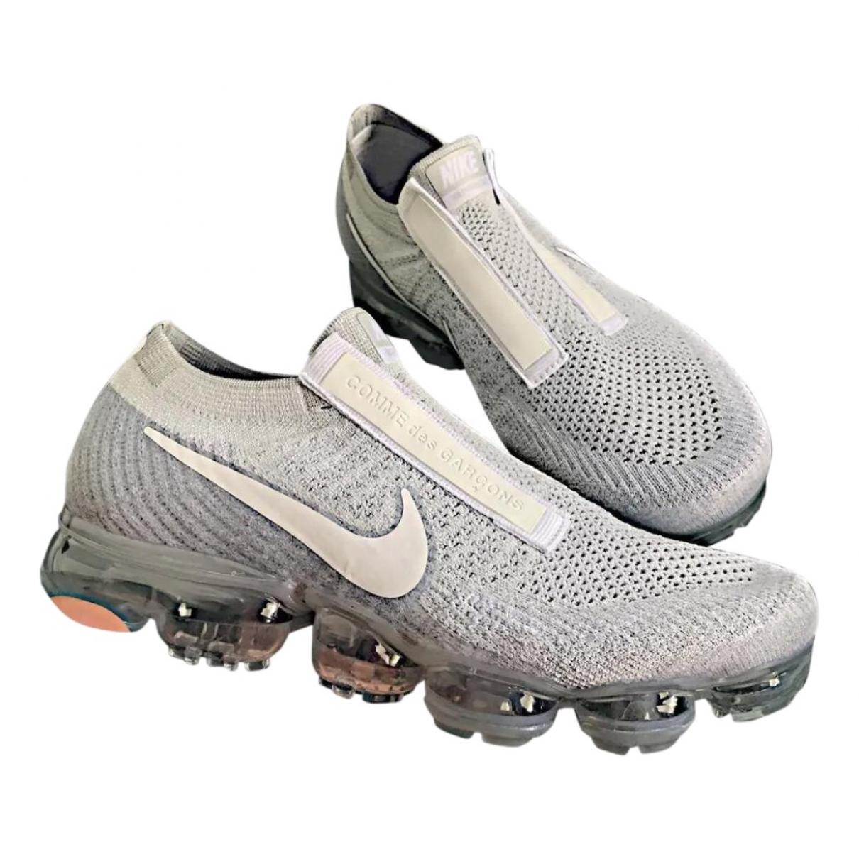 Nike X Comme Des Garcons VaporMax  Sneakers in  Grau Leinen